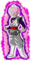 Black Goku SSJ Rose aura #2 by garu0212