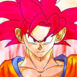 Son Goku SSG aura #1 by garu0212