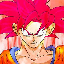 Son Goku SSG aura #2 by garu0212