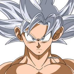 Son Goku Ultra Instinto Anime by garu0212