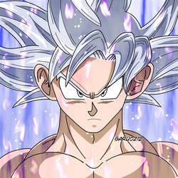 Son Goku Ultra Instinto Anime aura by garu0212