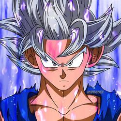 Son Goku Ultra Instinto Manga aura #1 by garu0212