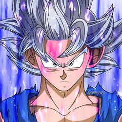 Son Goku Ultra Instinto Manga aura #2 by garu0212