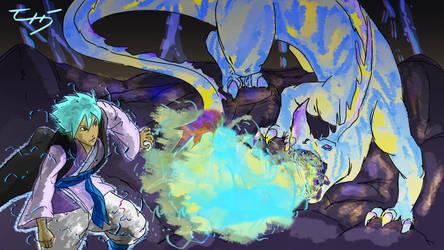 Hero and the Thunder Dragon by zuntxuj