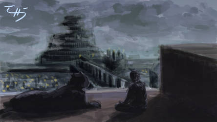 Night Gaze of Babel by zuntxuj