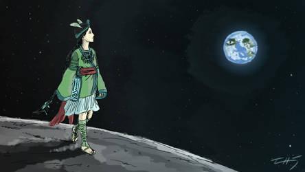 Lady on the Moon by zuntxuj