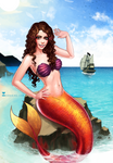 Commission: Me as mermaid :D by SoniaMatas
