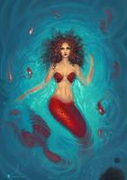 Commission - Me as mermaid 4 by SoniaMatas