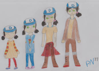 Evolution  of Clementine by PrincessNintendo89