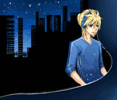 city music :: Len Kagamine by Paprikoo