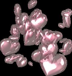Pink Hearts PNG by SugarPaula