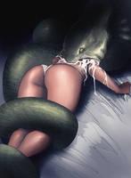 Vore snake by Platamatina