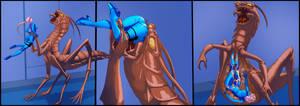 Samus vs the bug by Platamatina