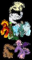 Dragon/Dragon-Tail Pony Species - Info by PonyAdoptsShared