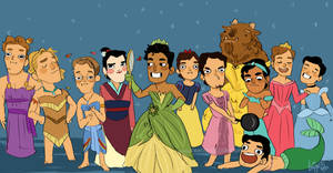Disney babes by knightJJ