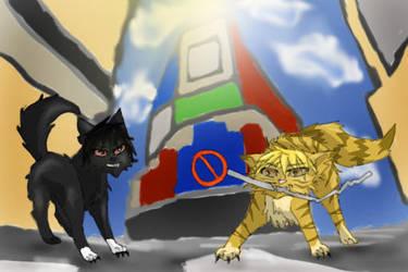 Izaya and Shizuo Cats! by Spottedleaf24