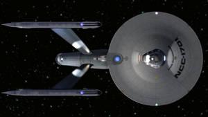 My rebuilt, refit USS Enterprise...Top view by genchang2112
