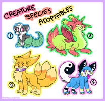 Points Creature ADOPTABLES - Closed by sproutlets