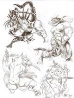 Rats Warriors And Xenogirl by Khasdannyanlord