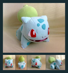 Bulbasaur plush - pattern for sale! by Lighiting-Dragon