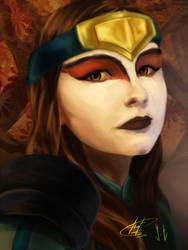 Kyoshi warrior by Janonna-art