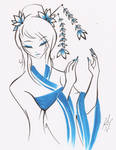 THE COLOR OF THE BLUE GEISHA by WhiteFox89