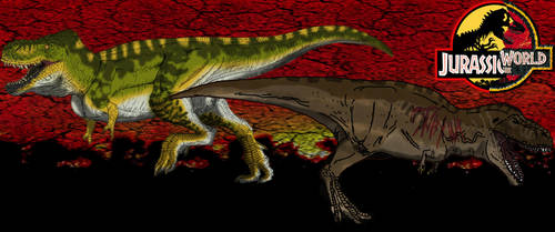 Tyrannosaurus by kingrexy