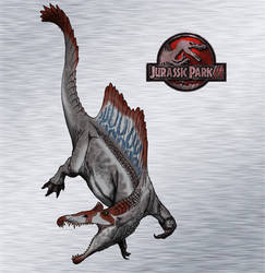 Dinovember day 25 - Spinosaurus by kingrexy