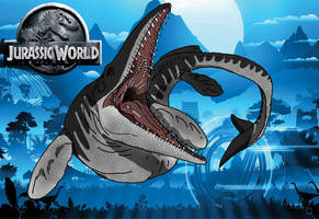 Mosasaurus by kingrexy