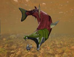 Sabertooth Salmon by kingrexy