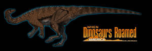 When Dinosaurs Roamed America Anchisaurus by kingrexy