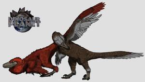 Dinosaur Planet Pyroraptor by kingrexy