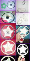 Sakura Star Staff Hoop by TheAnna