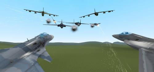 Close Air Fight by Sunnydragoon