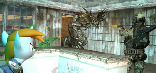 Fallout/ EQ  Deathclaw Attack, GMOD by Sunnydragoon