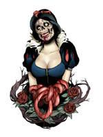 Zombie Face Snow White by TAKORUone