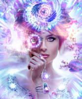 Goddess - Aura of Halos by Hanan-Abdel