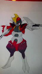 Leaguemon #4 Zedsharp (Bisharp +Zed) by ekramer65