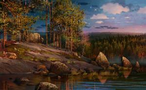 My homeland.Sunset. by IvanLaliashvili
