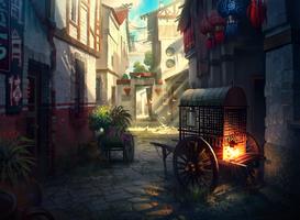 Chinese street by IvanLaliashvili