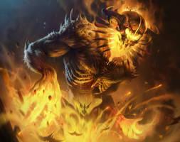 Fire Golem by IvanLaliashvili