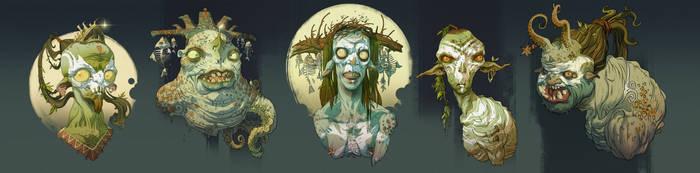 Swamp and sea creatures by IvanLaliashvili