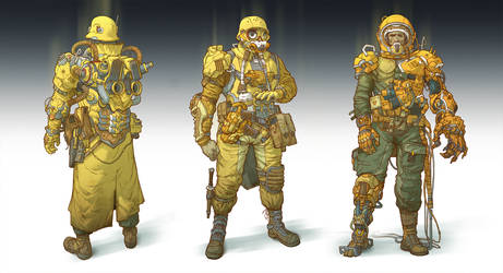 Post-apocalyptic soldiers and cyborgs_2 by IvanLaliashvili