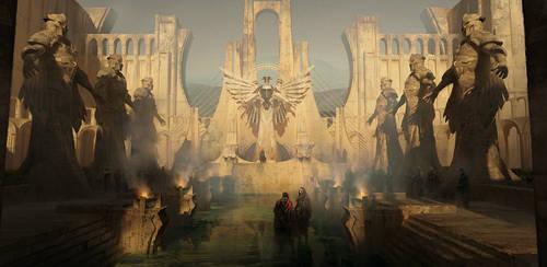 Ancient temple by IvanLaliashvili
