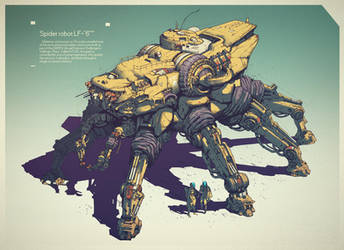 Spider robot LF-6 by IvanLaliashvili
