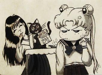 Sailor Moon Fan Art by Jabberlily
