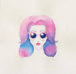 Watercolour Girl by Jabberlily