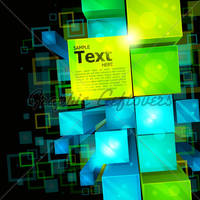 3d Abstract Background by kingofvectors