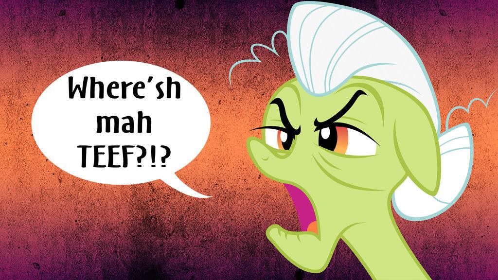 Where'sh mah TEEF?!? by InstantCoffeeBarista