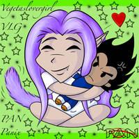 Chibi Nick and Vegeta Plush ID by InstantCoffeeBarista